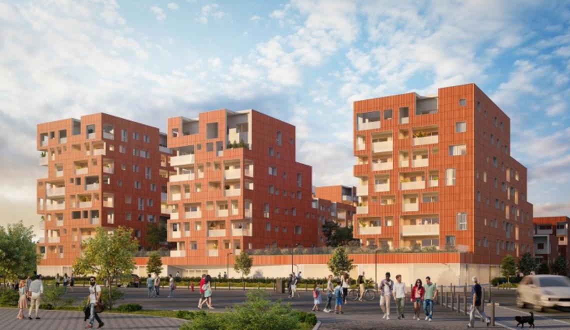 Quartier La Cartoucherie à Toulouse : Patrimoine SA Languedocienne propose 56 appartements sociaux