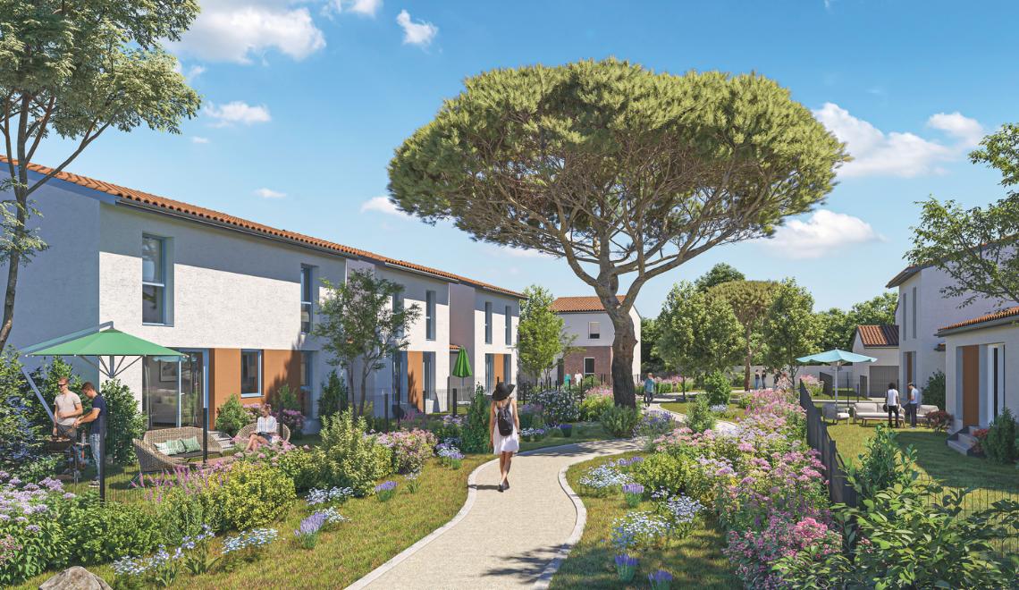 Au sud-est de Toulouse, un quartier d'envergure se dessine sur la commune de Baziège